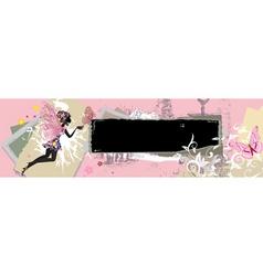 vintage grunge banner vector image vector image