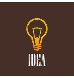 Vintage with a light bulb vector