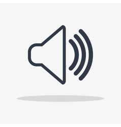 volume icon isolated vector image