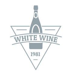 white wine logo simple gray style vector image vector image