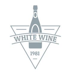 white wine logo simple gray style vector image