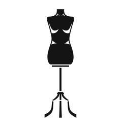 Sewing mannequin icon simple style vector