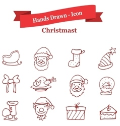 Collection stock holiday icons vector