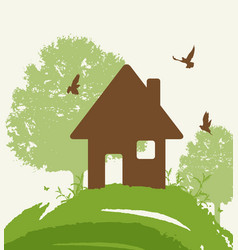 Eco-friendly house vector