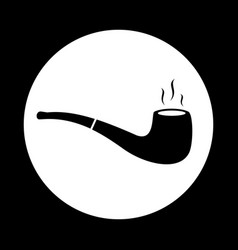 Tobacco pipe icon flat simple pictogram vector
