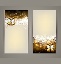 Christmas greeting-card with bells vector