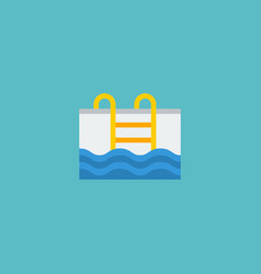 Flat icon pool element of vector