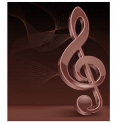3d treble clef vector