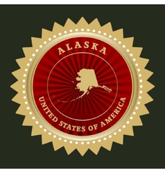 Star label Alaska vector image