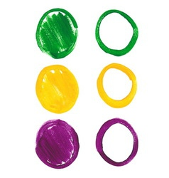 Mardi Gras acrylic circles vector image