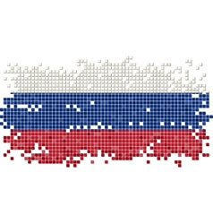 Russian grunge tile flag vector