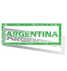 Green outlined argentina stamp vector