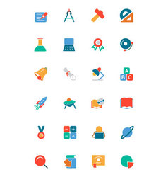 Education colored icons 2 vector