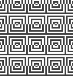 Alternating black and white cut squares vector