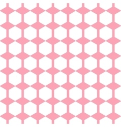 Geometric pink seamless pattern hexagon vector