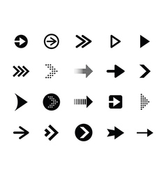 Arrow set vector