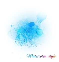 Imitation blue watercolor vector
