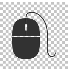 Mouse sign  dark gray icon on vector