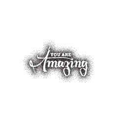 Amazing Pointillism dotworking - Calligraphy vector image vector image