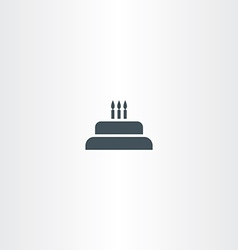 birthday cake with candles icon vector image vector image