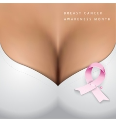 Breast cancer Awareness month vector image