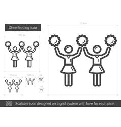 Cheerleading line icon vector