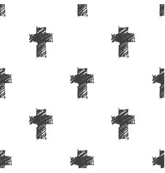 crosses seamless pattern vector image vector image