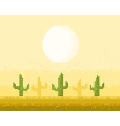 Desert pixel art vector