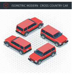 Ed croos country car vector