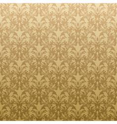 floral golden wallpaper vector image vector image
