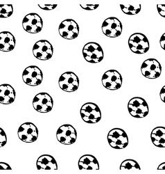 Football balls seamless pattern vector image