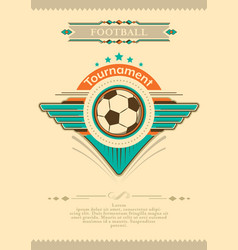 football placard in vintage style with stars vector image vector image