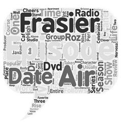 Frasier Season 3 DVD Review text background vector image