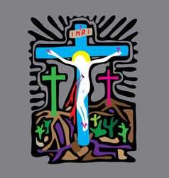 Golgotha cross vector