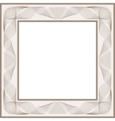 guilloche vector frame vector image vector image