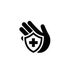 Insurance icon flat design vector