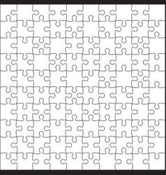 Jigsaw puzzle blank vector
