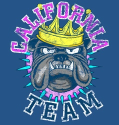 KING DOG TEAM vector image