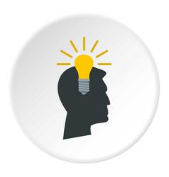 Light bulb idea icon circle vector