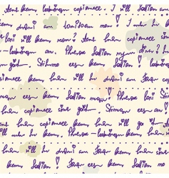 Old writing ink seamless pattern vector