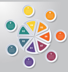 Pie chart or area chart diagram infographics vector