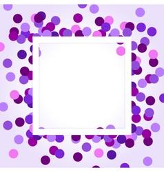 Purple confetti vector