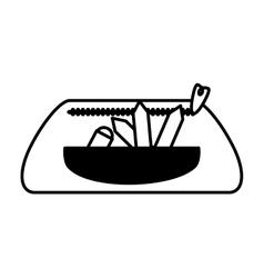 School supplies case isolated icon vector
