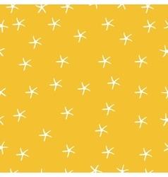 Sea star seamless pattern marine vector