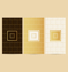 Set of flyers in golden color collection business vector