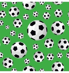 Soccer Ball Seamless Football Background Pattern vector image vector image