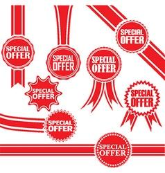 Special offer signs set special offer sticker set vector