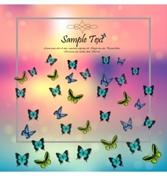 spring background with butterflies vector image vector image