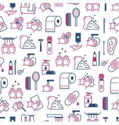 symbol of higiene seamless pattern background vector image vector image