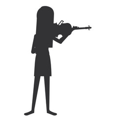 Woman playing fiddle character vector
